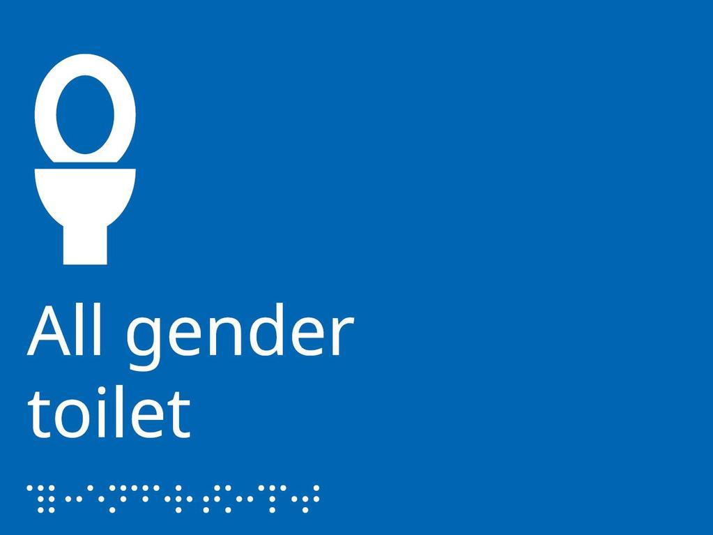 Ikea gender neutral bathroom sign titled 'All gender toilet'. Picture: Supplied