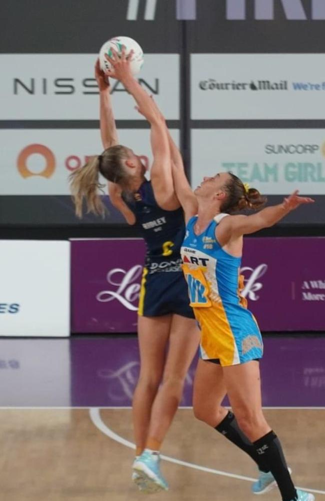 Bull Shark Maddi Ridley on court for Bond University. Picture: Supplied