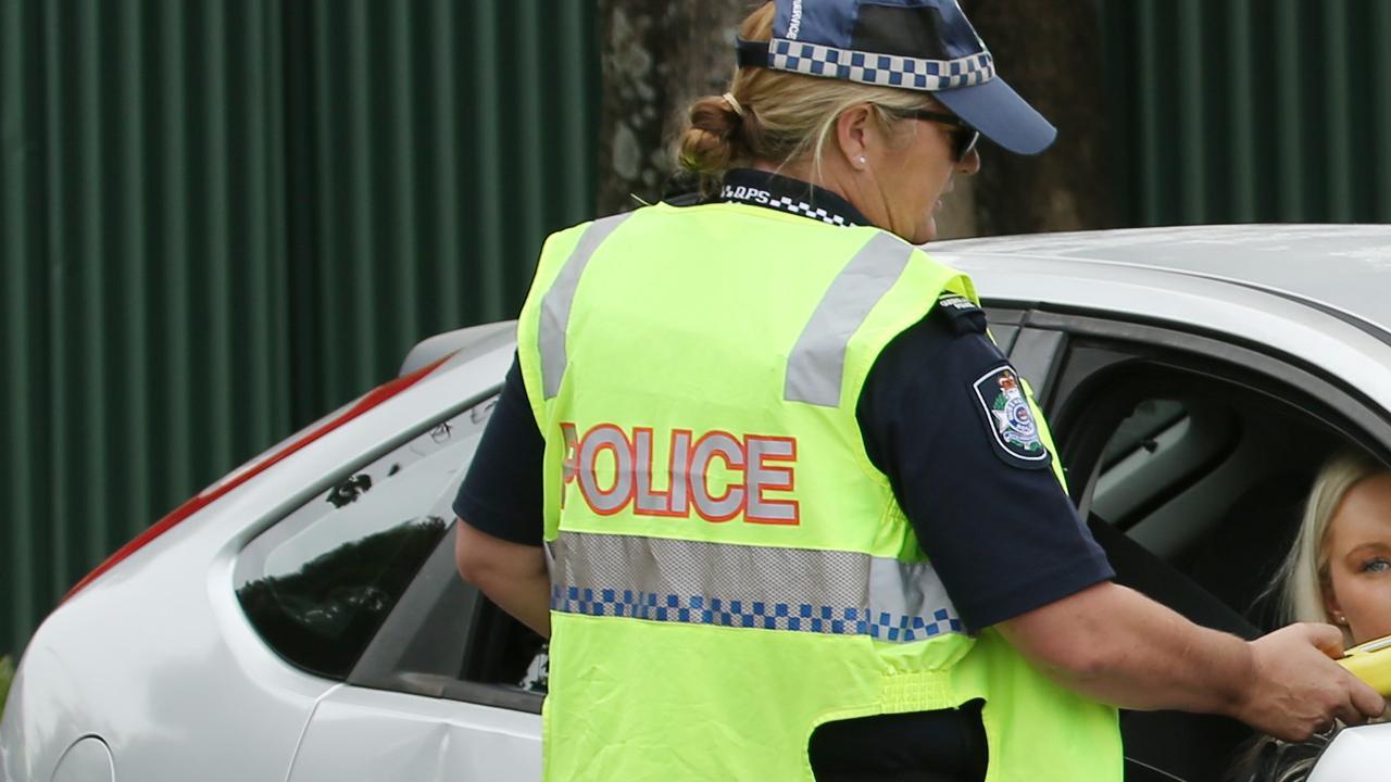 Police conduct a random breath test. File photo.