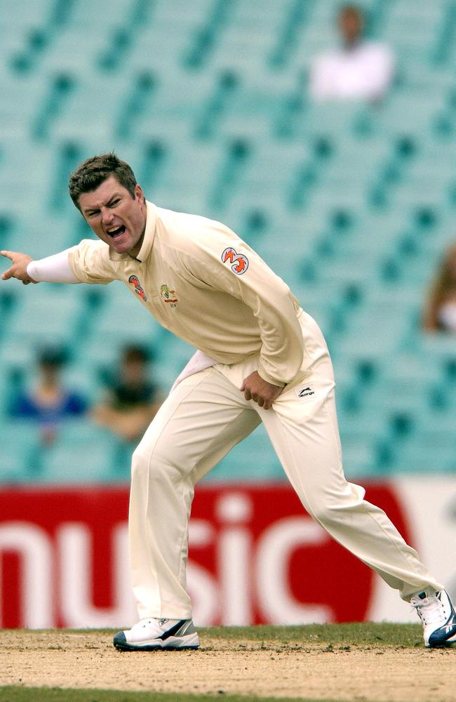 Test cricketer MacGill in action against South Africa in 2006. Picture: AAP Image/Dean Lewins