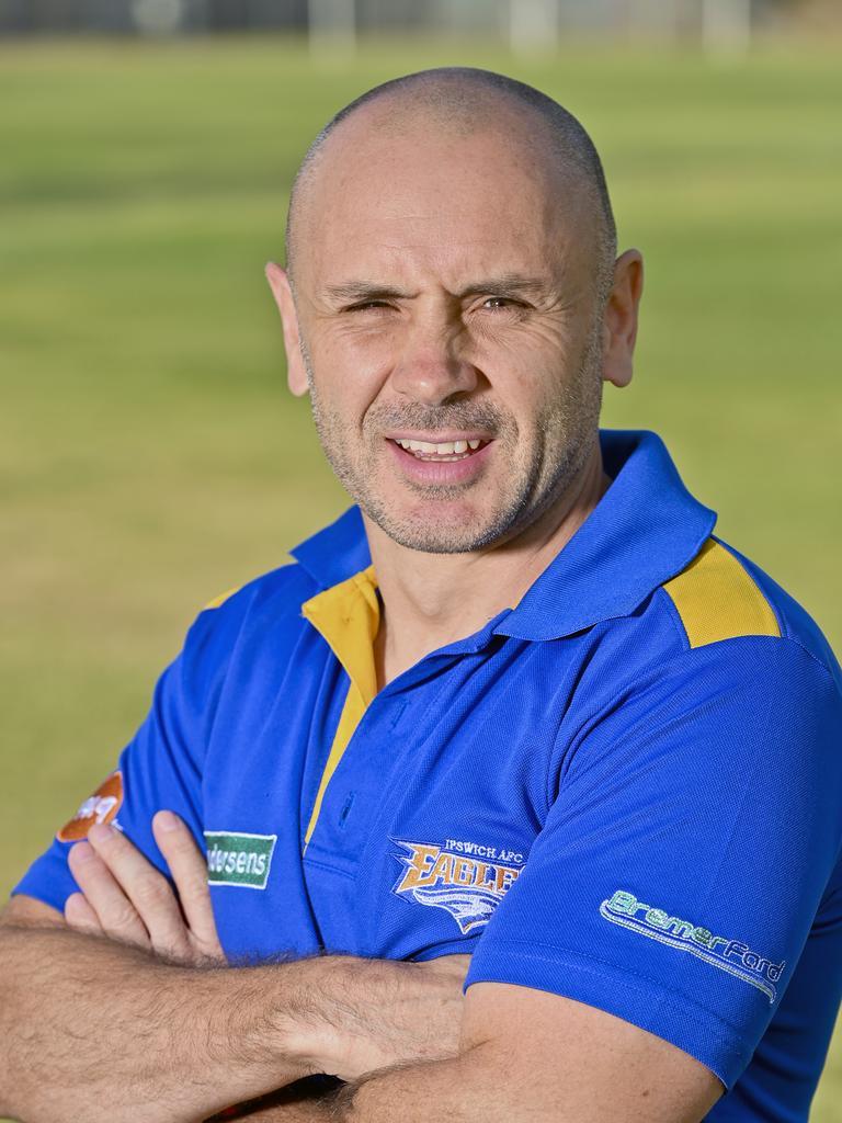 Ipswich Eagles Aussie rules club president Clint Bateman. Picture: Cordell Richardson