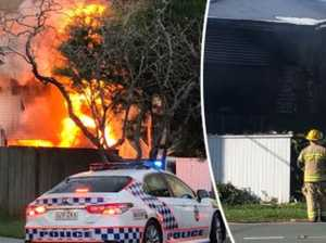 Man on attempted murder after women flee house inferno