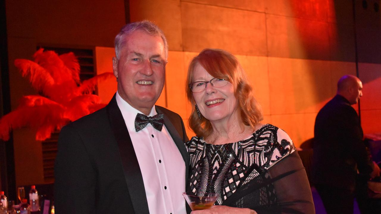 Mackay Mayor Greg Williamson with his wife Annette at the Mackay Mayor's Charity Ball 2021. Picture: Lillian Watkins