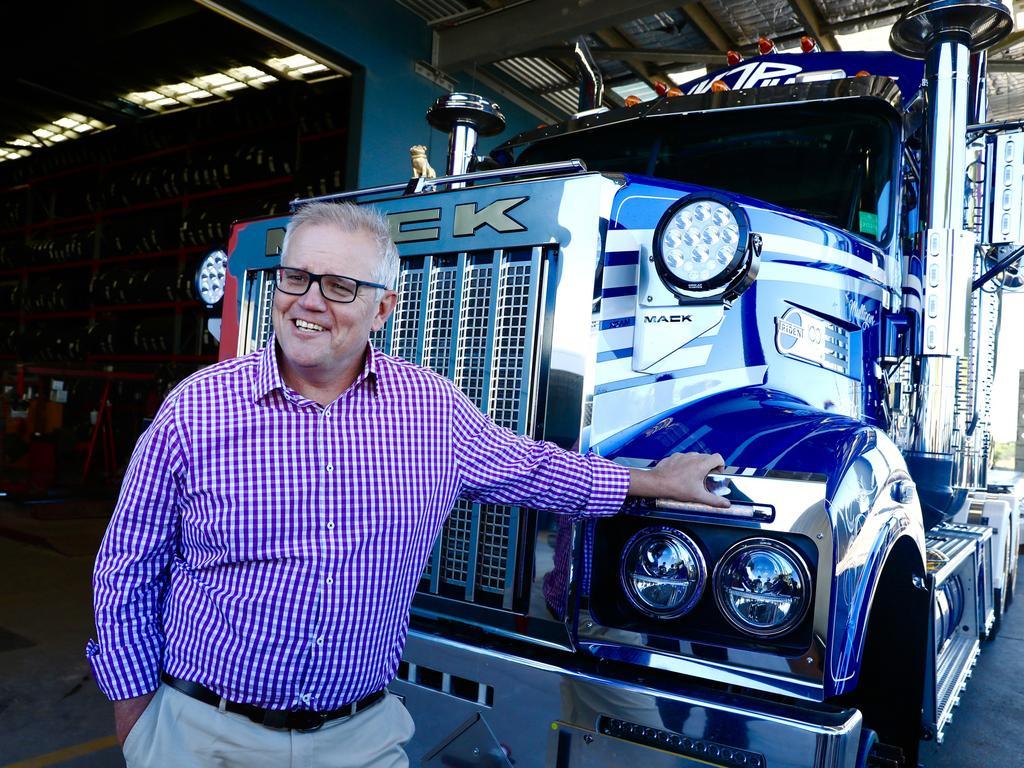 Prime Minister Scott Morrison in Gladstone today. Picture: Adam Taylor