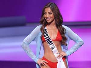 Miss Universe stuns in red bikini