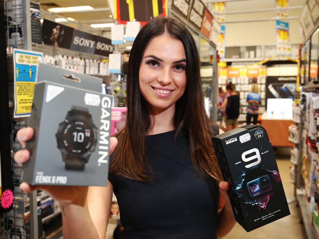 Garmin and GoPro Hero's are both on sale. Picture: Brendan Radke