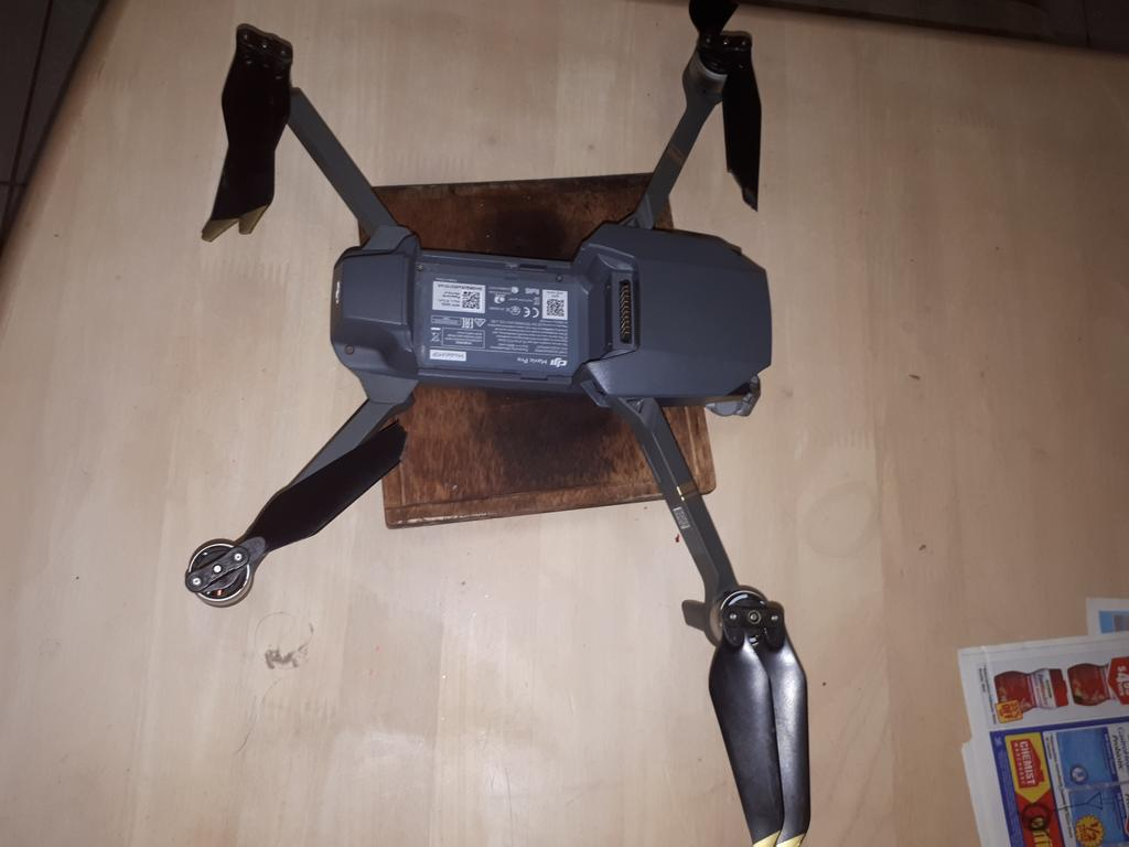 The drone was damaged in the impact.