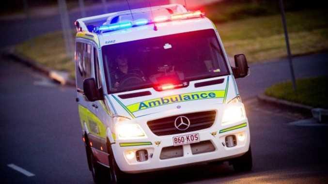 Man in hospital with leg injury after car crash