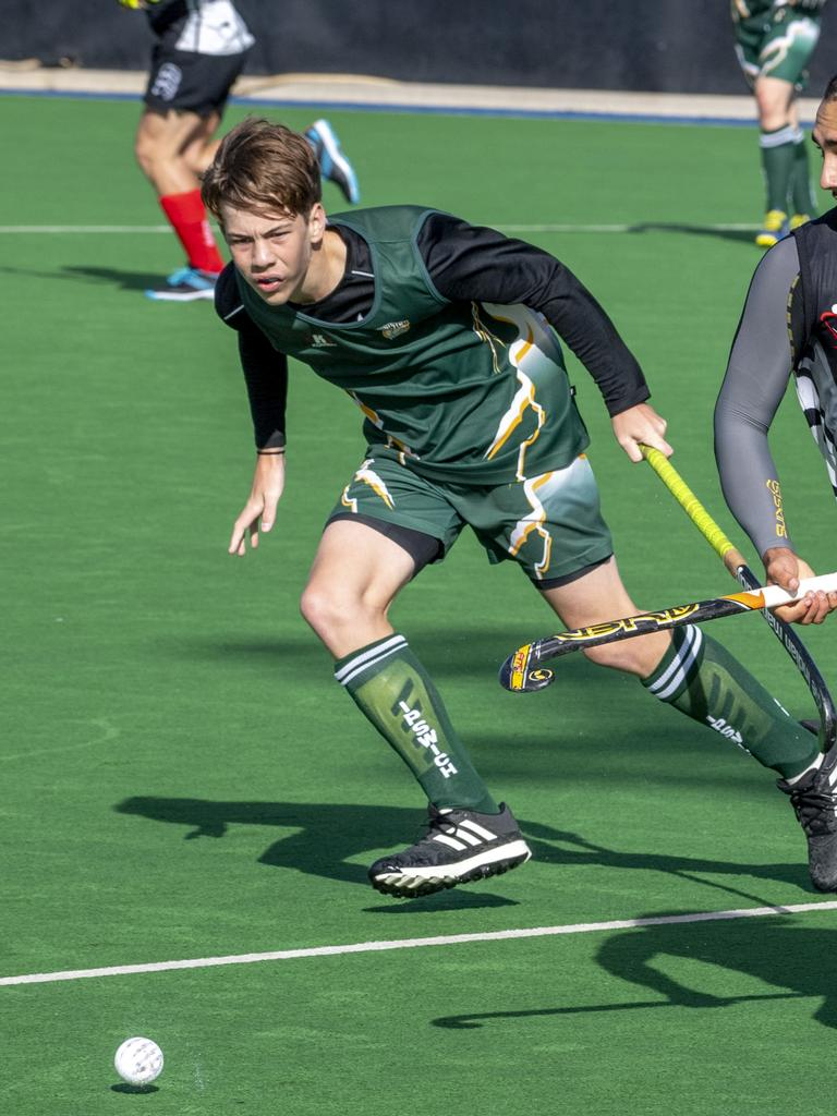 Wests' hat-trick scorer Rhys Stenzel playing for Ipswich at the recent Queensland championships. Picture: Nev Madsen.