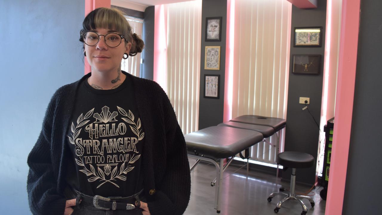 Emma Marentes has opened her own studio, Hello Stranger Tattoo Parlour, in Denham Street, Rockhampton.
