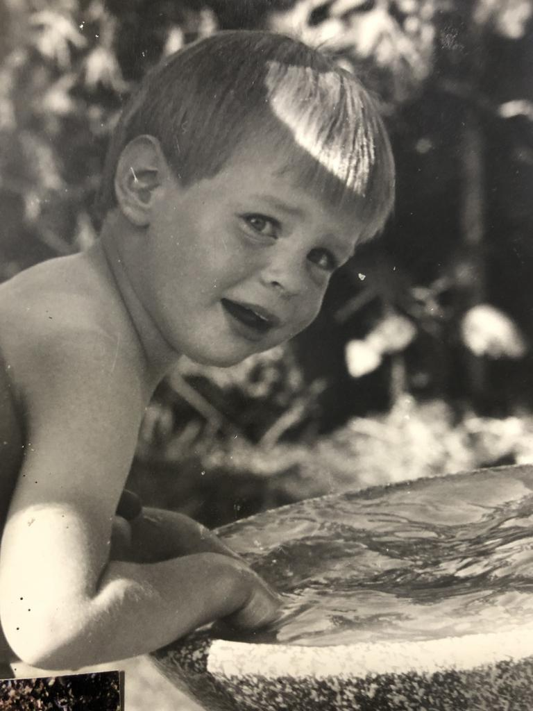 LPE chief executive Damien Glanville as a child in Bacchus Marsh. Picture: Supplied
