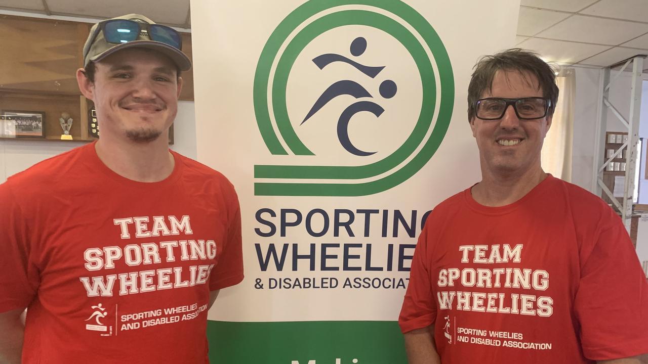 Sporting Wheelies members Jordan Williams and Matt Dumigan. Picture: Lillian Watkins