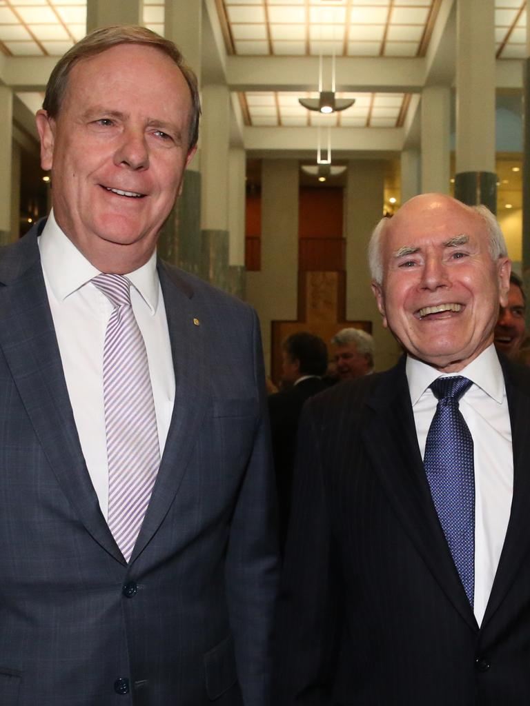 Peter Costello and John Howard Picture: Ray Strange.