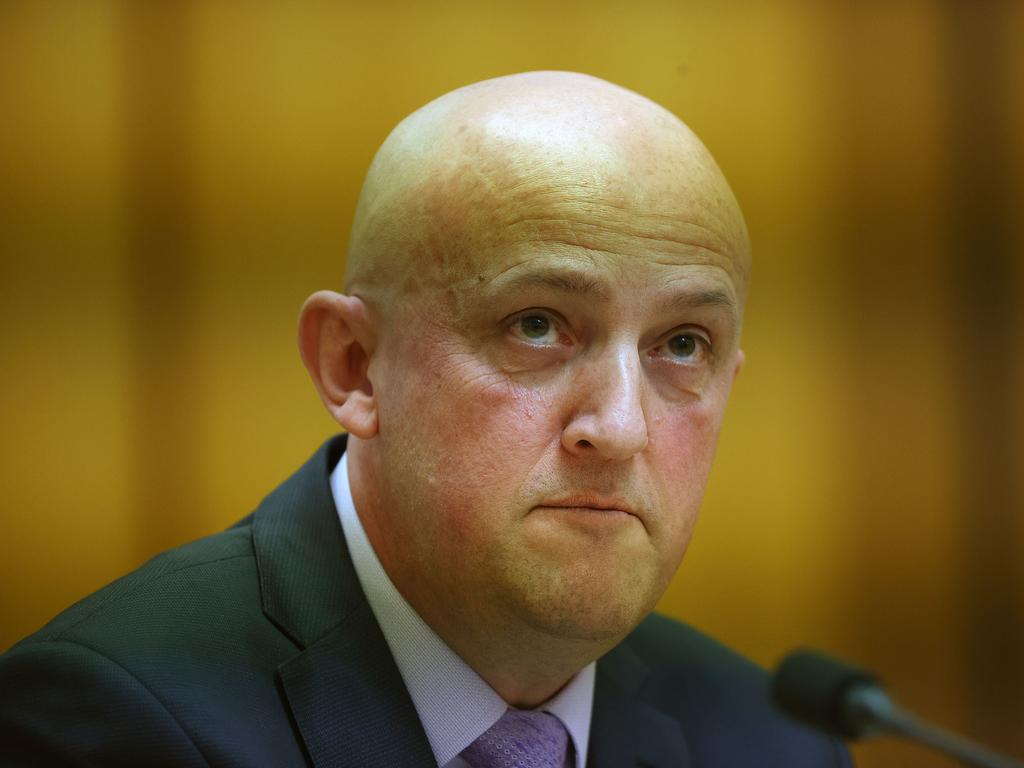 Mike Burgess, Director-General of Security during an inquiry into extremist movements and radicalism in Australia, at Parliament House in Canberra. Picture: Gary Ramage