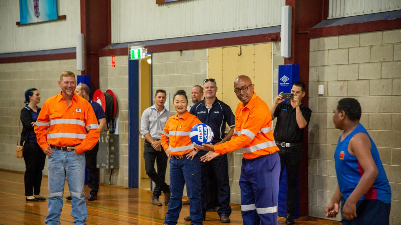 The official opening of the Mackay Clontarf Academy. Picture: Daryl Wright