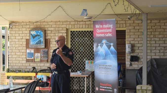 QFES talks winter fire safety with Mackay seniors