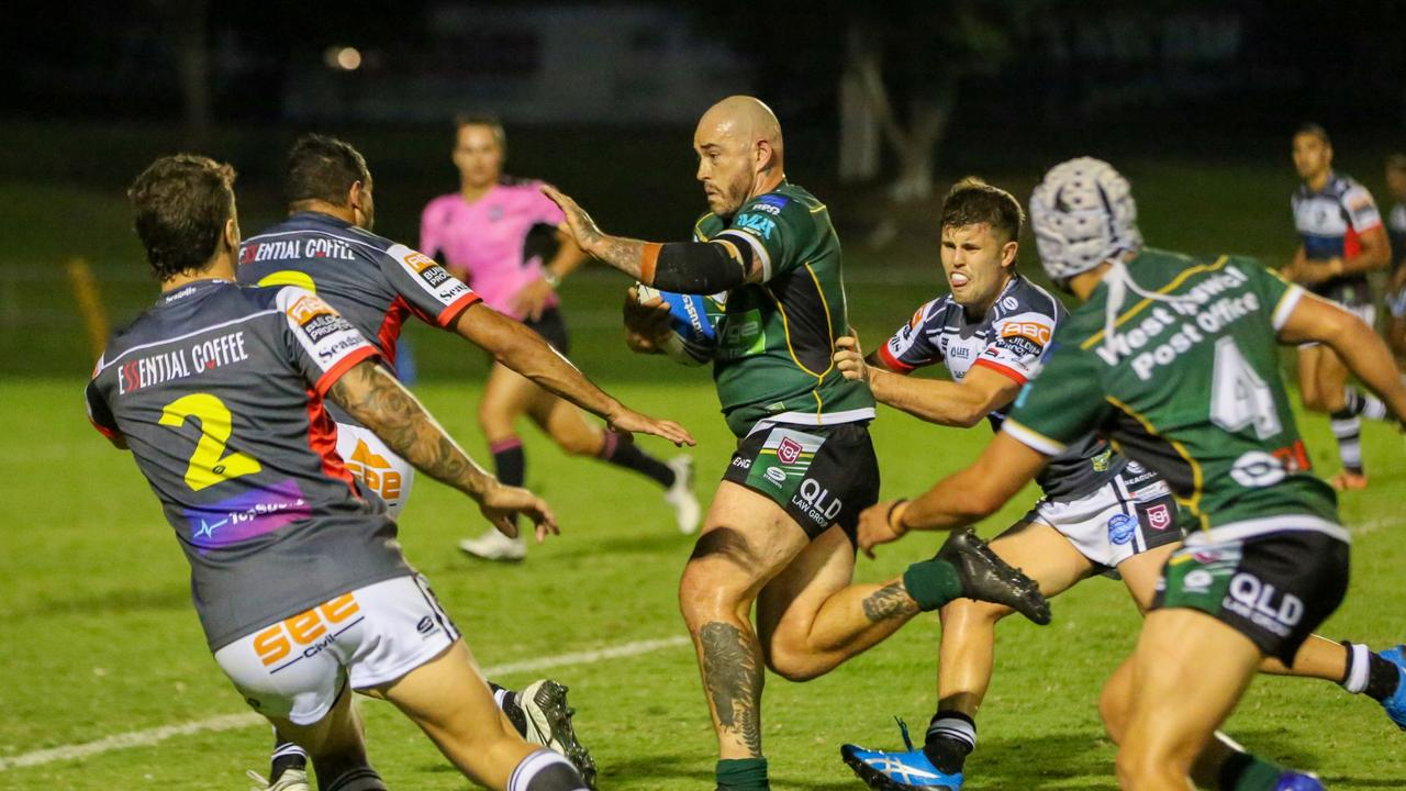 Ipswich Jets captain Nat Neale could be out for a month with a fractured cheekbone. Picture: Jorja Brinums/QRL