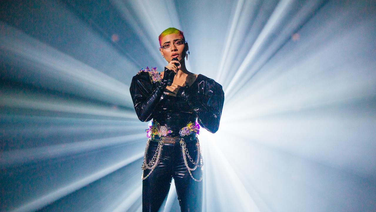 Australia's Eurovision hopeful performing Technicolour. Picture: supplied