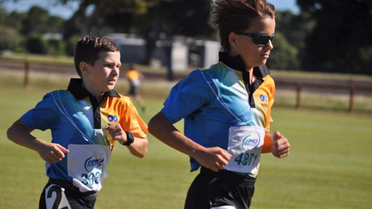 Sonny Morse and Cayleb Ticehurst compete at the Bowen Carnival. Picture: Contributed