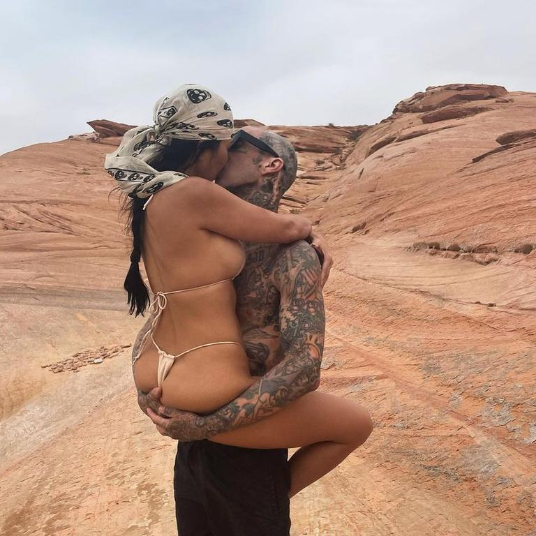 Kourtney Kardashian and Travis Barker can't keep their hands off of each other. Picture: Instagram
