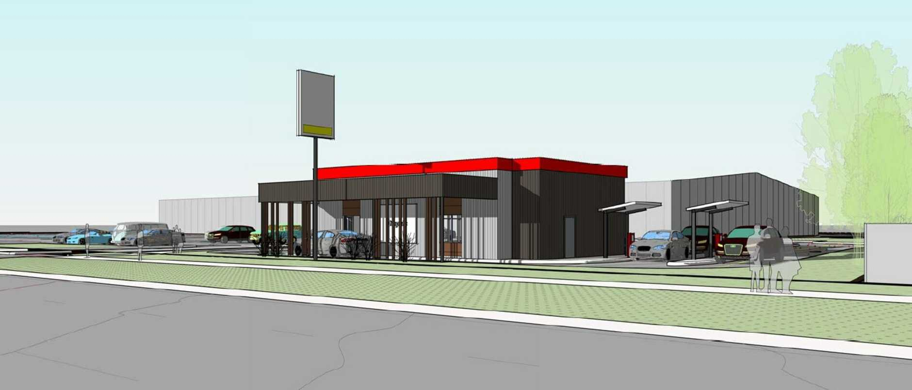 Plans for the fast food building.