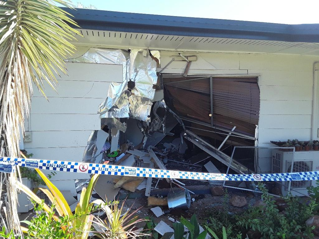 The vehicle crashed into a home on Bernborough Ave, Moranbah.
