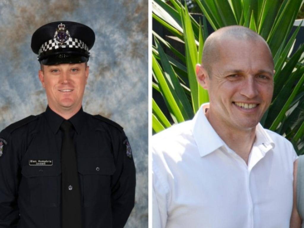 Constable Glen Humphris and Senior Constable Kevin King were killed when Mohinder Singh careered into them on the Eastern Freeway. Picture: Victoria Police