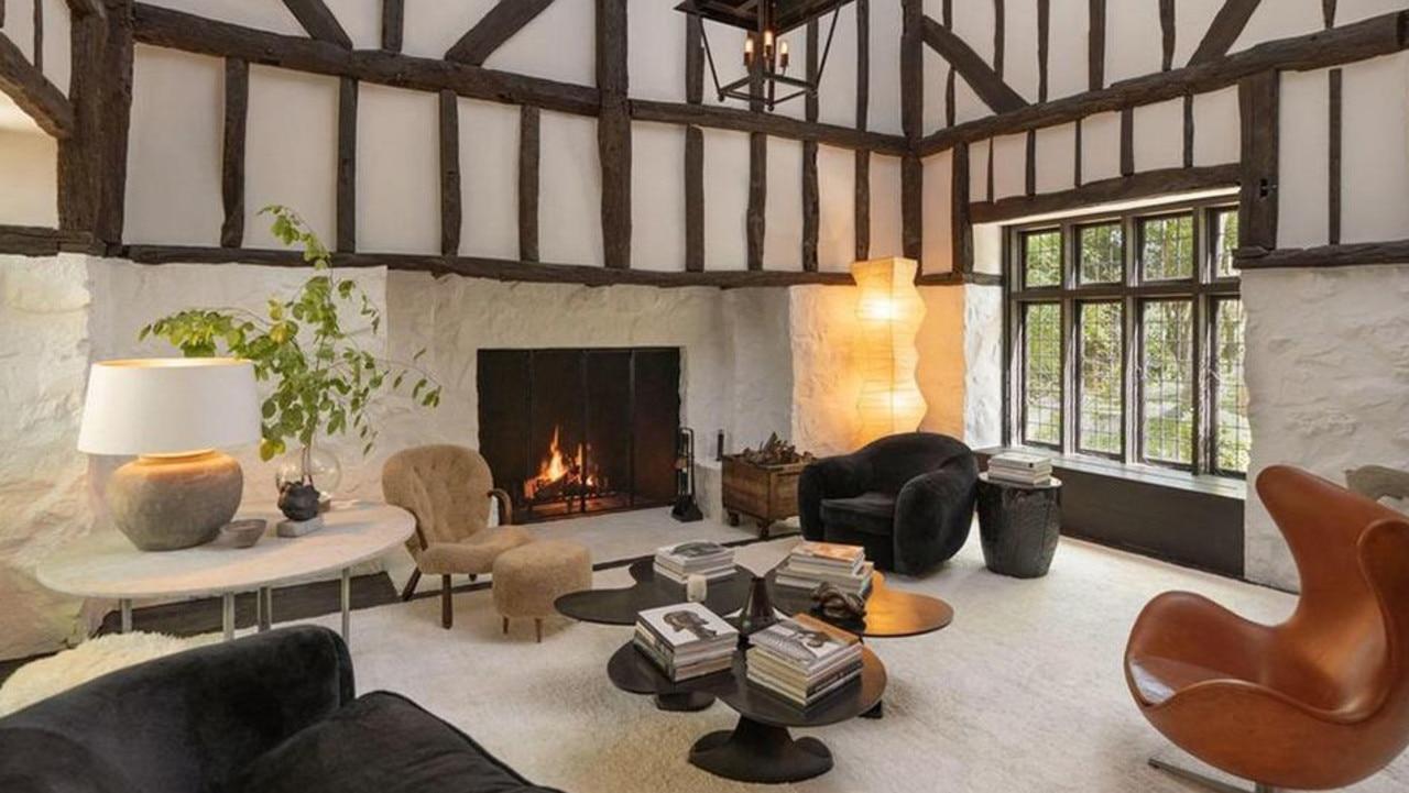 The living room of Grande's Montecito home.