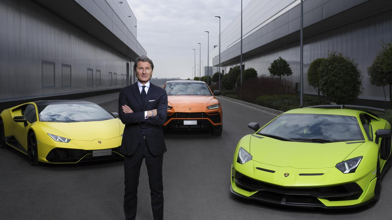 Lamborghini boss Stephan Winkelmann announces the company is going electric.
