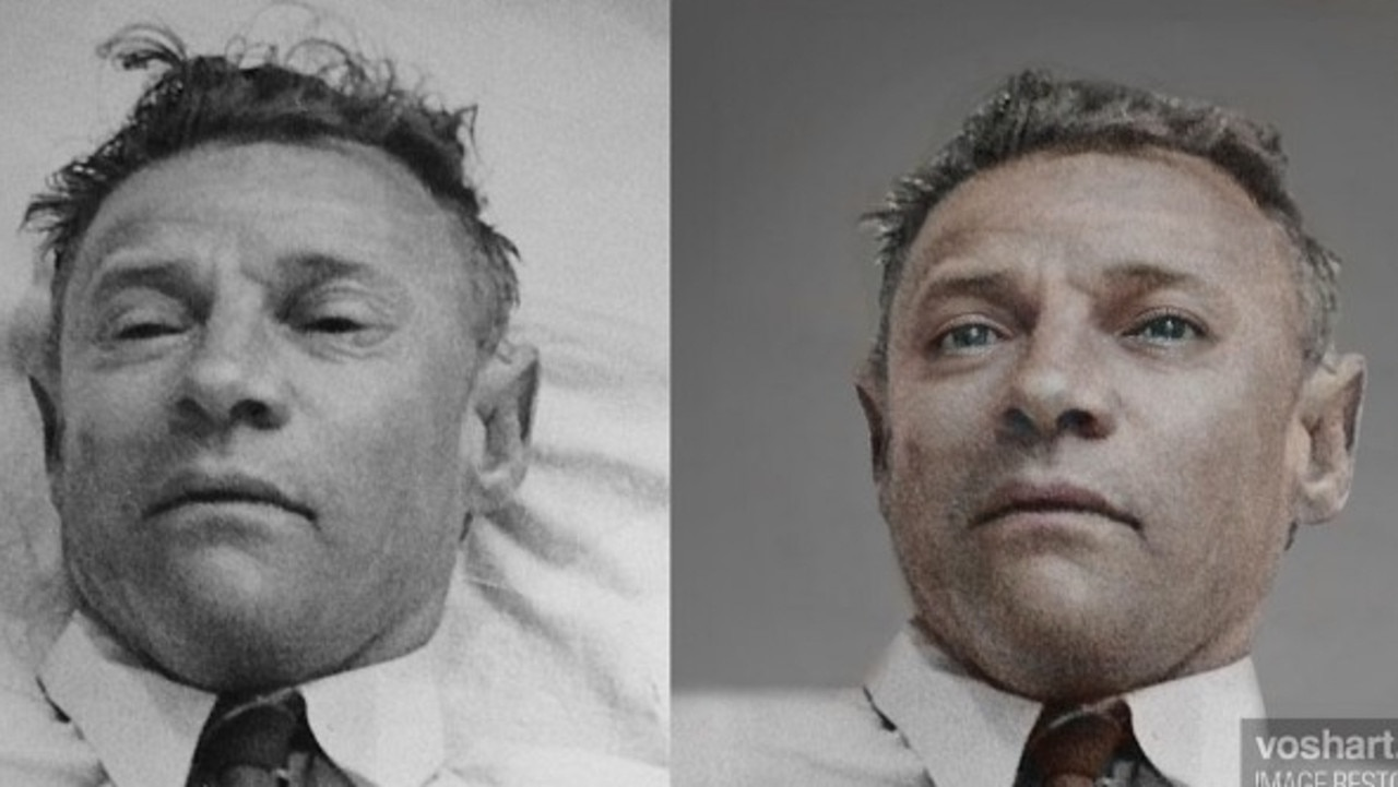 Canadian film designer Daniel Voshart used new technology to form updated images of what the Somerton Man may now look like. Picture: Daniel Voshart