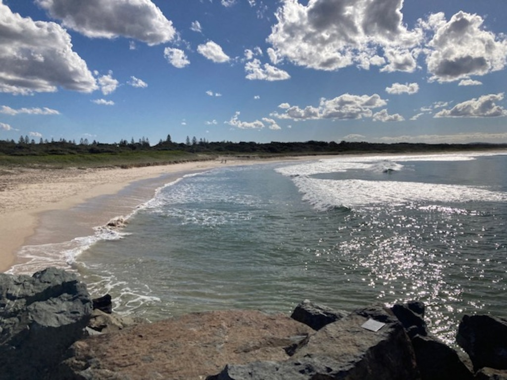 A surfer died at Tuncurry Beach on Tuesday following a shark attack. Pic Dan Mills