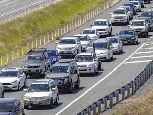 Truck, car collide on Bruce Hwy in peak-hour traffic