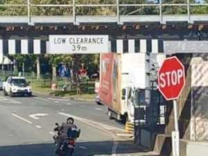 Truck hits troublesome Palmwoods rail bridge guard