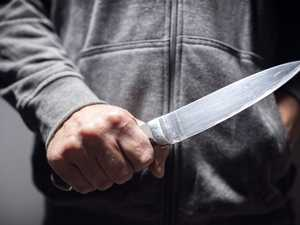 Dad tasered after threatening police with large knife