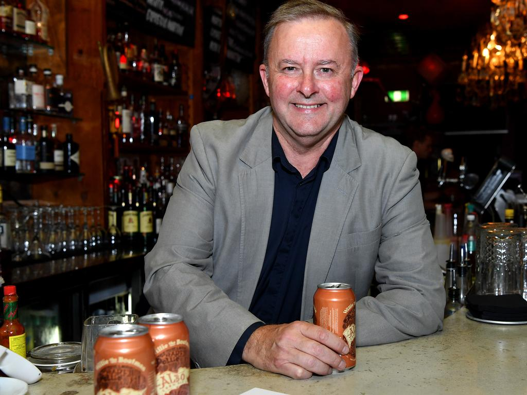 Anthony Albanese has a beer named after him. Picture: AAP Image/Joel Carrett