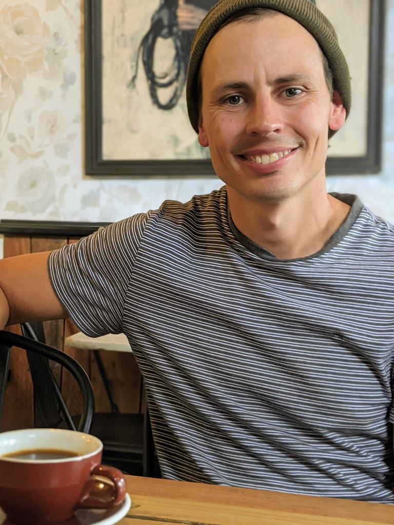 Oikos Cafe Ipswich co-owner Brett Briggs. Photo: Ebony Graveur