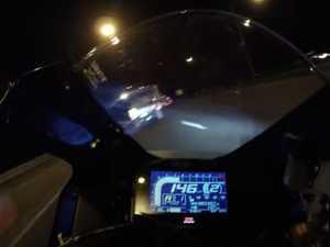 Horrific crash footage as rider clocks 260km/h