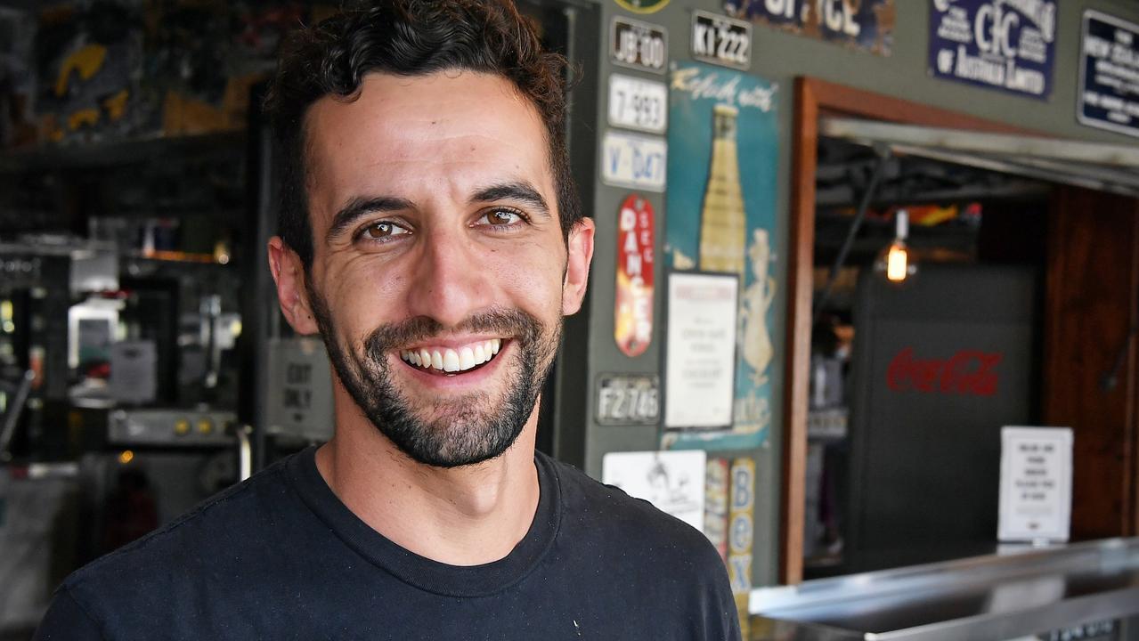 Owner of Rick's Garage in Palmwoods, Ben Jamieson. Picture: Patrick Woods