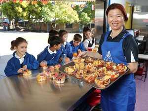 Lavish food served up to private school kids