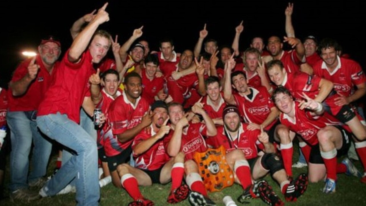 Colts celebrating their A-grade grand final win in 2009.