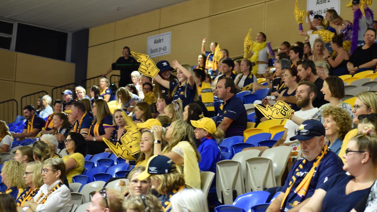Sunshine Coast Lightning had plenty of support at its semi final match against Melbourne Vixens on October 3.