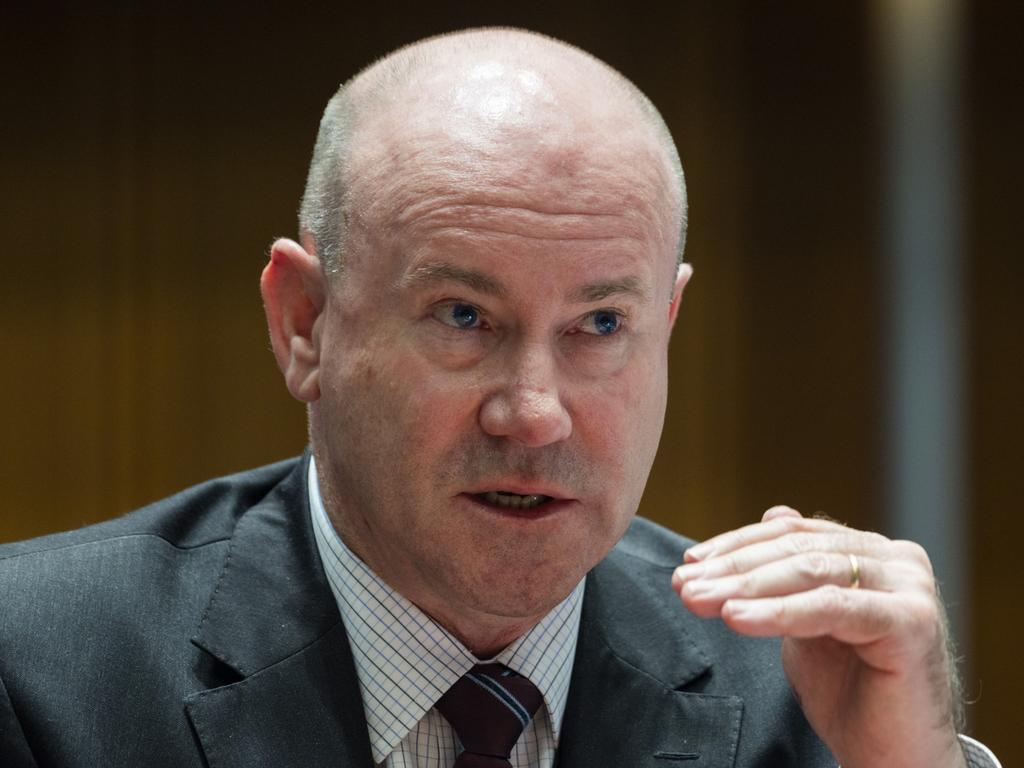 Defence department secretary Greg Moriarty at Senate Estimates on Wednesday. Picture: NCA NewsWire/Martin Ollman