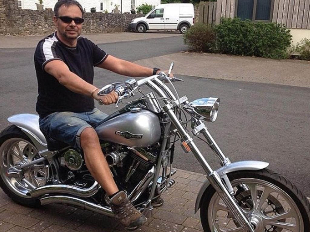 Peter Morgan became a multi-millionaire after selling his businesses. He then splashed out cash on motorbikes and ex-military tanks. Picture: FirstLook TV