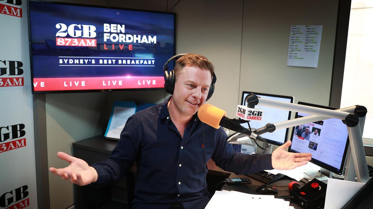 Ben Fordham defended the advert on Wednesday morning. John Feder/The Australian.