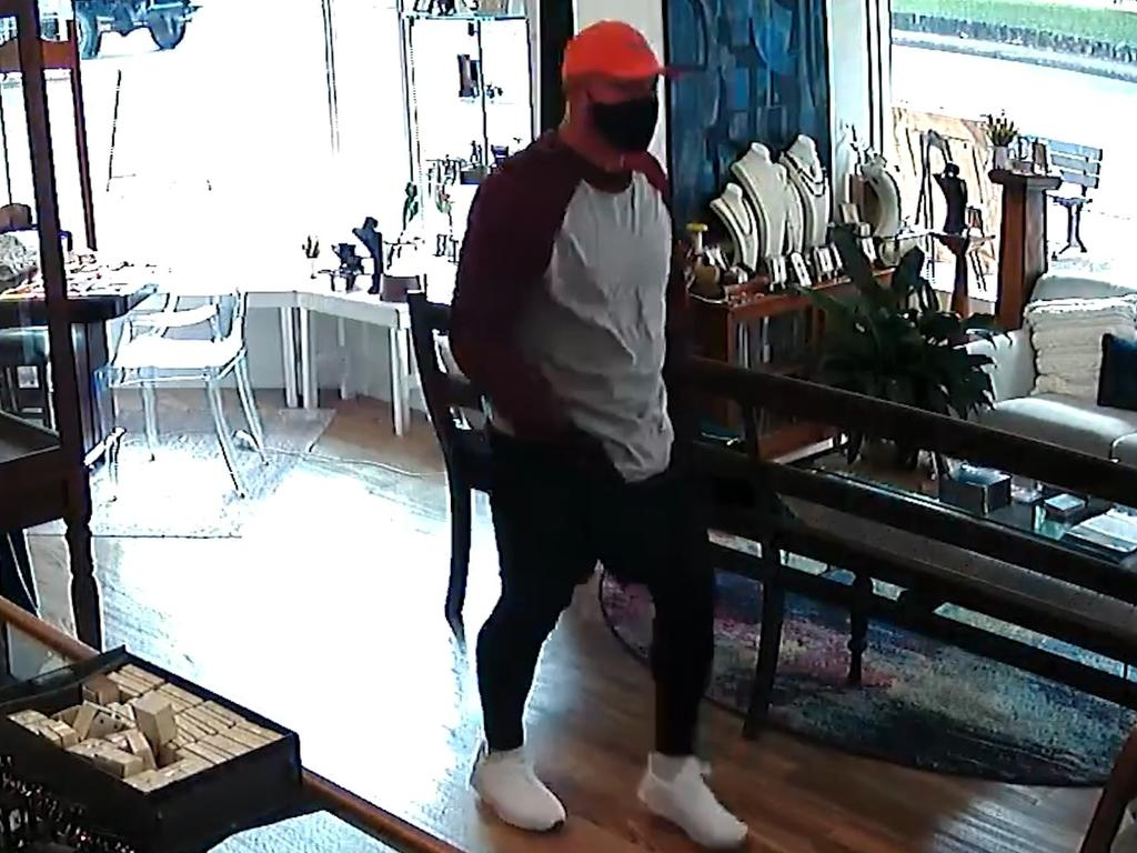 Police have released CCTV footage of a man who allegedly robbed a Buderim business with a screwdriver.