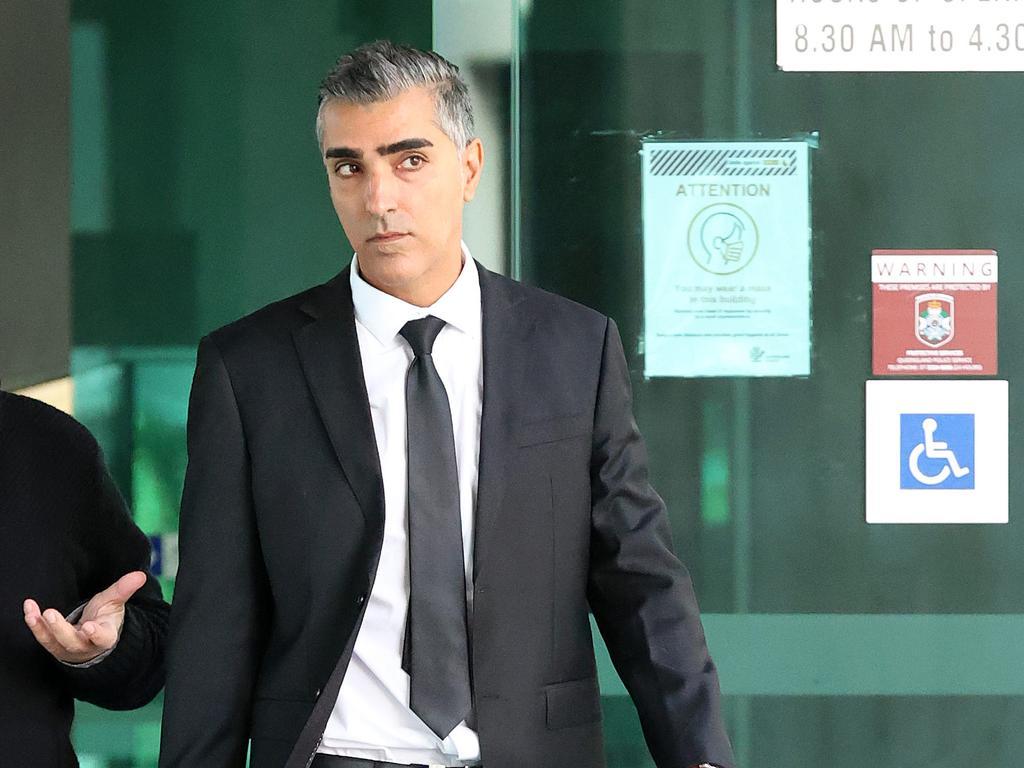Ali Baghaei leaving Brisbane Magistrates Court. Picture: Liam Kidston