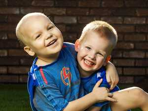 The superheroes helping Superman Nate kick chemo