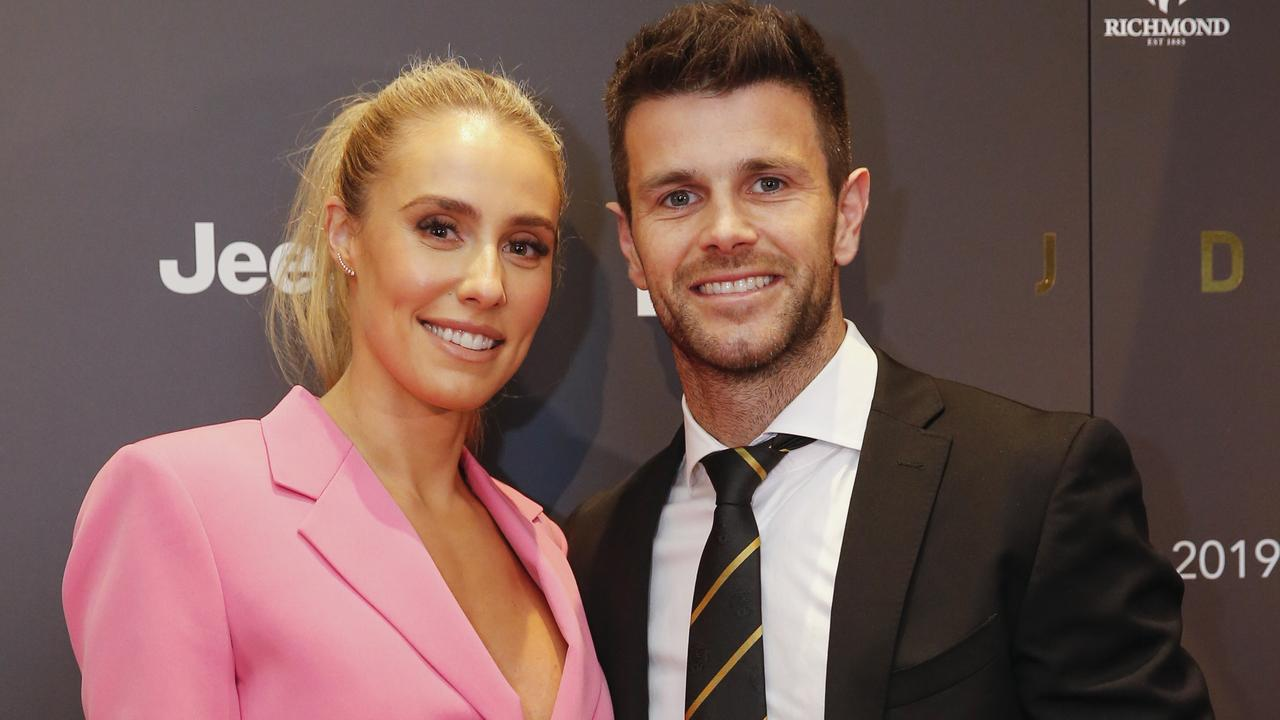 Brooke Cotchin has revealed she begged her husband to stay with Richmond despite their daughter's illness because she was fearful of abuse.