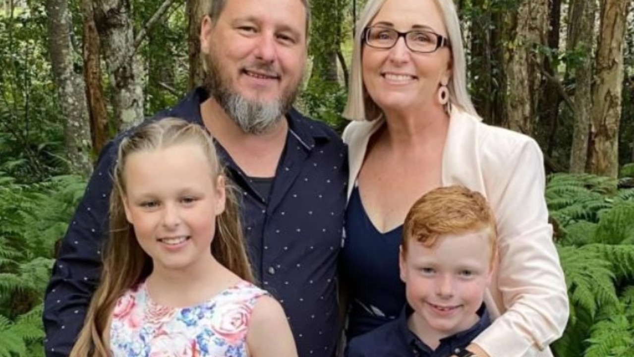 Geoff, 44, Sommar, 42, Chloe, 10, and eight-year-old Declan. Picture: GoFundMe