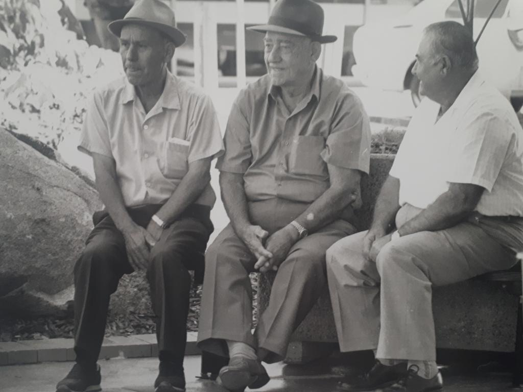 MALTESE CORNER: The men of the Maltese Corner: Percy Zammit, Sam Bezzina and John Vassallo, will be honoured with a memorial at the corner of Victoria and Wood streets in Mackay. Mrs Baretta said they were looking for a sculptor who could recreate this photograph in life-size figures.
